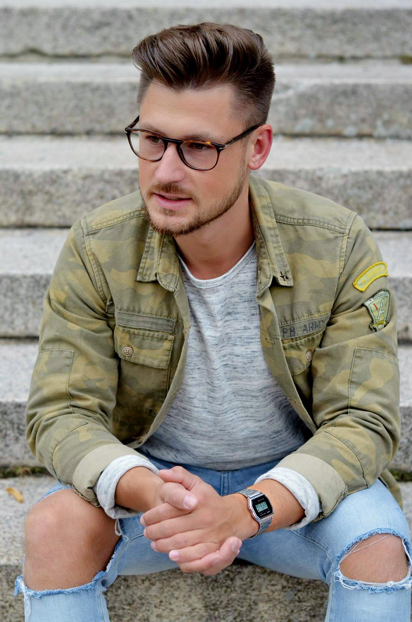 Modeblog-Berlin-Männer-Blog-Fashion-Camouflage-Jacke-Casio-Uhr