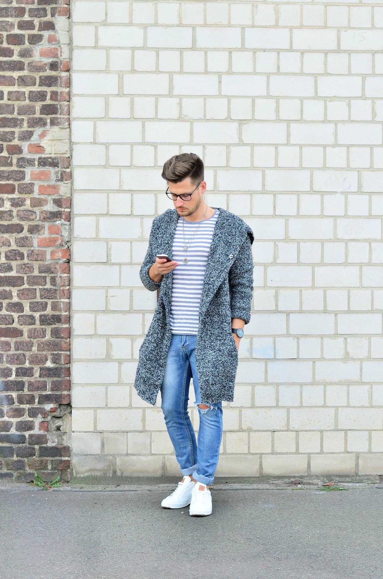 Männer-Blog-Berlin-Outfit-Cardigan-Jeans-Streifenshirt-Sneaker-Fashion
