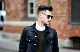 Tommeezjerry-Styleblog-Männerblog-Männer-Modeblog-Berlin-Berlinblog-Outfit-Streetlook-Skinny-Jeans-Oversized-Shirt-Khaki-Sweater-Jeansjacke-Adidas-Superstar-Schwarze-Sonnenbrille-Frühlingslook-Friday-Dapper
