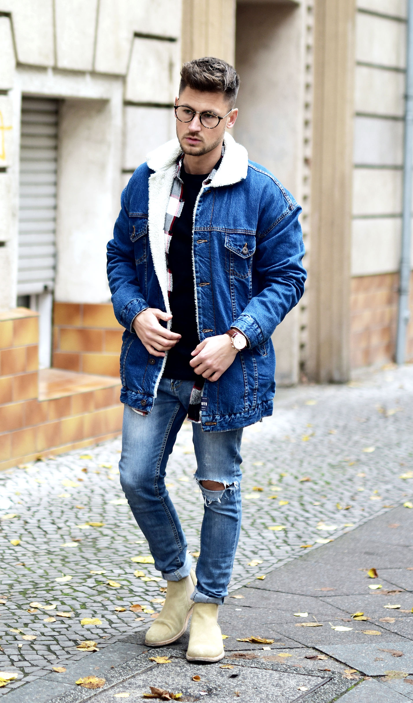 tommeezjerry-styleblog-maennerblog-maenner-modeblog-berlin-berlinblog-maennermodeblog-outfit-jeansjacke-fell-felljeansjacke-chelseaboots-carohemd-streetstyle-6