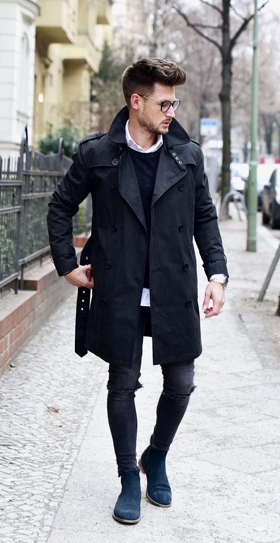 Tommeezjerry-Styleblog-Männerblog-Männer-Modeblog-Berlin-Berlinblog-Männermodeblog-Outfit-Coat-Trenchcoat-Bruno-Banani-Chelsea-Boots-Otto