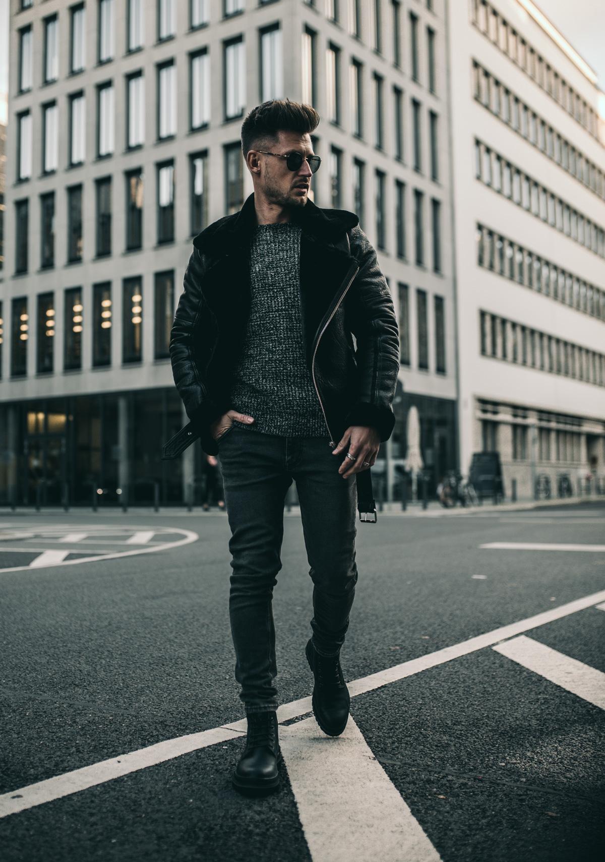 Tommeezjerry-Lifestyleblog-Fashionblog-Maennermodeblog-Maennerblog-Modeblog-Camel-Active-Boots-Schnuerboots-Winterlook-Bikerlederjacke-Mit-Fell-Herbstlook-Berlin