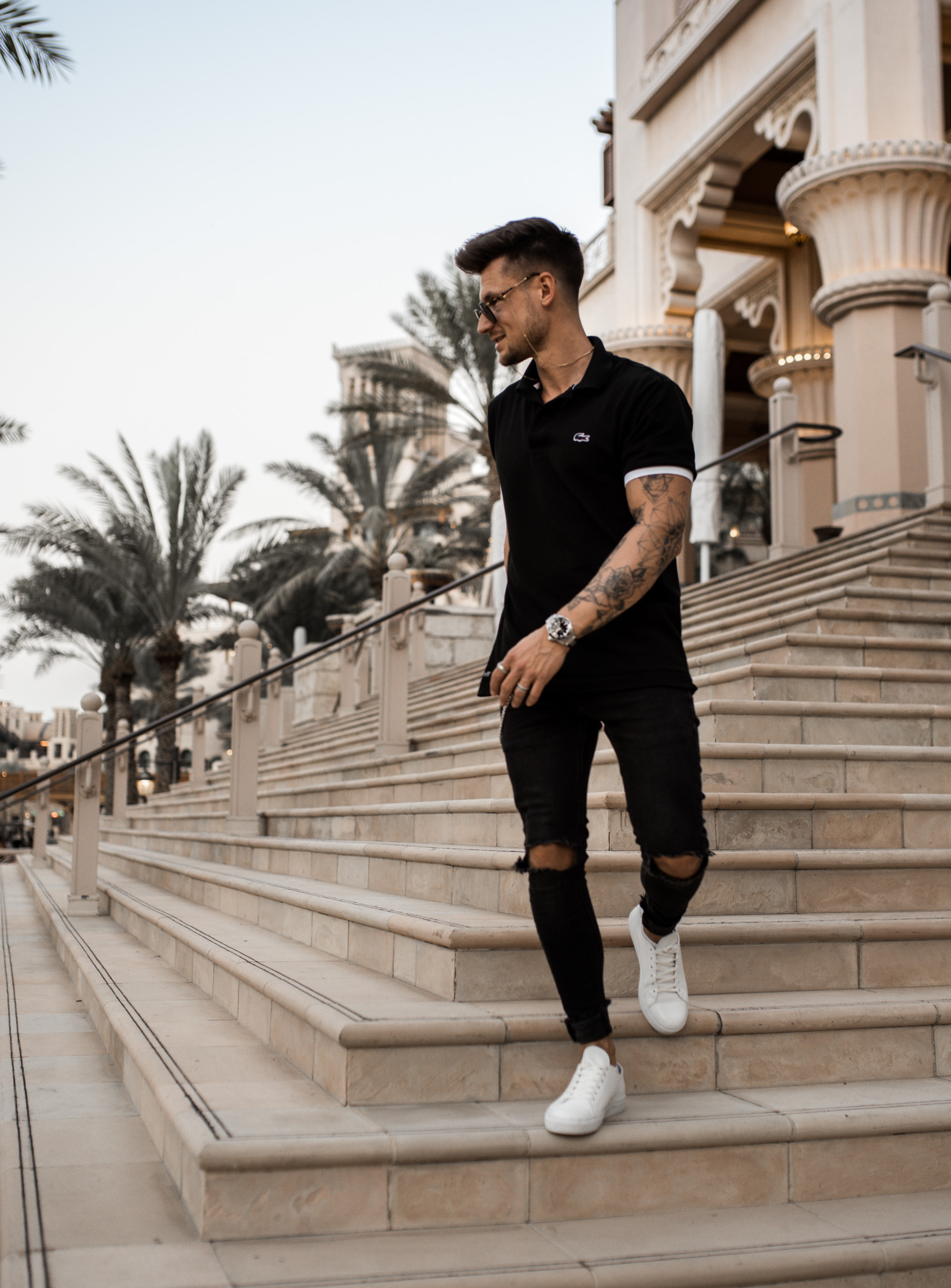 Tommeezjerry-Lifestyleblog-Fashionblog-Maennermodeblog-Maennerblog-Modeblog-Dubai-Lacoste-Polo-Shirt-Outfit-Sommer-Look-Springtime